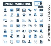 online marketing icons   Shutterstock .eps vector #326427020
