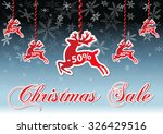 text christmas sale with deer... | Shutterstock .eps vector #326429516