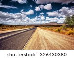 freeway in the wild area ... | Shutterstock . vector #326430380