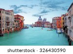 Canal Grande With Basilica Di...