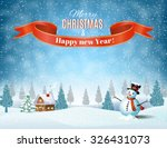 new year and christmas winter... | Shutterstock .eps vector #326431073