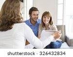 architect presenting a new... | Shutterstock . vector #326432834