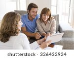 real estate agent presenting a... | Shutterstock . vector #326432924