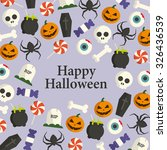 halloween card  halloween icons ... | Shutterstock .eps vector #326436539