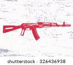assault rifle  gun  on grunge...