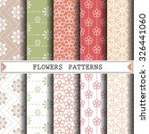 flower vector pattern pattern... | Shutterstock .eps vector #326441060