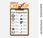 car repair infographic  in flat ... | Shutterstock .eps vector #326441069