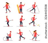 people involved in winter... | Shutterstock .eps vector #326443508