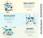smart home  house technology... | Shutterstock .eps vector #326443556