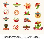 mexican food icons  menu... | Shutterstock .eps vector #326446853