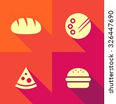 vector flat icons   food