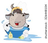a small cow. cartoon | Shutterstock . vector #326448104