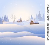 vector illustration of a snowy... | Shutterstock .eps vector #326460950