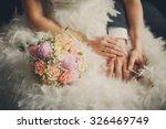Wedding Pastel Bouquet Closeup...