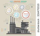 factory  industry design info... | Shutterstock .eps vector #326470310