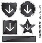 arrow black | Shutterstock .eps vector #32647084
