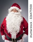 Small photo of Portrait of amicable Santa Claus