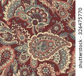 paisley seamless pattern.... | Shutterstock .eps vector #326475770