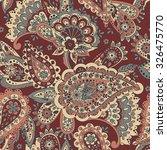 paisley seamless pattern.... | Shutterstock .eps vector #326475770