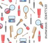 vector seamless cosmetics ... | Shutterstock .eps vector #326477120