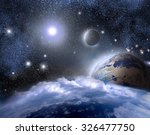 blue planets earth  the planet... | Shutterstock . vector #326477750