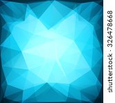 blue polygonal  geometric... | Shutterstock .eps vector #326478668