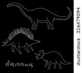 set of different dinosaurs ... | Shutterstock .eps vector #326479094