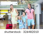 smiling family with children at ... | Shutterstock . vector #326482010