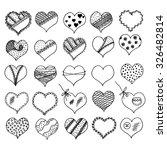 vector hearts design elements....   Shutterstock .eps vector #326482814