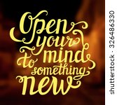 hand lettering typography... | Shutterstock .eps vector #326486330
