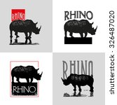collection of vector logo with... | Shutterstock .eps vector #326487020