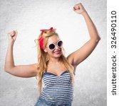 lucky woman | Shutterstock . vector #326490110