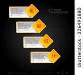 vector business stickers.... | Shutterstock .eps vector #326491880