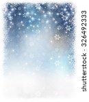 snow christmas background | Shutterstock .eps vector #326492333