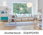 spacious bright living room... | Shutterstock . vector #326492450