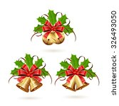 set of golden christmas bells... | Shutterstock .eps vector #326493050