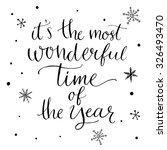it's the most wonderful time of ... | Shutterstock .eps vector #326493470