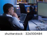 man during night shift in... | Shutterstock . vector #326500484