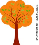 isolated fall tree vector ... | Shutterstock .eps vector #326502038