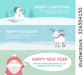 christmas and new year cute... | Shutterstock .eps vector #326504150