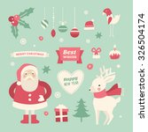 set of christmas and new year... | Shutterstock .eps vector #326504174