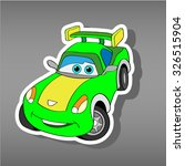 cartoon car sticker for boys... | Shutterstock .eps vector #326515904