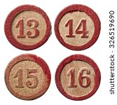Vintage Wooden Lotto Numbers  ...