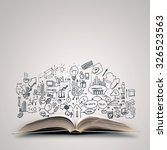 opened book with business... | Shutterstock . vector #326523563