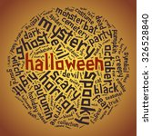 halloween. tagged word in the... | Shutterstock .eps vector #326528840