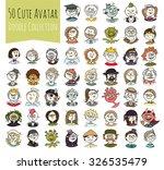 cartoon funny user avatars in... | Shutterstock .eps vector #326535479