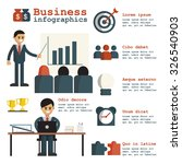 business success in infographic ... | Shutterstock .eps vector #326540903