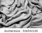 wrinkled fabric background | Shutterstock . vector #326542130