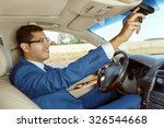 businessman adjusting the... | Shutterstock . vector #326544668
