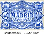 spanish ornate tile work madrid ... | Shutterstock .eps vector #326544824